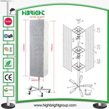 Plancher promotionnel de revêtement de poudre et support de spinner de dessus de comptoir