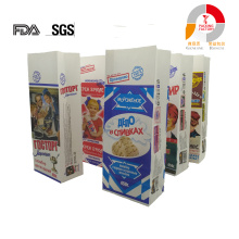 white krafte paper laminatd stand up retail ice cream snack bag