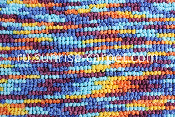 Polyester Loop Shaggy Rug with Spacedye yarn