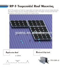 Trapezoid Metal Roof Solar Panel Mounting Rack