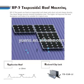 Support de montage de panneau solaire de toit en métal trapézoïdal
