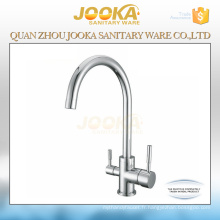 High quality deck mounted kitchen 3 way water faucet
