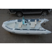 caliente de remos RIB470 barco de casco rígido inflable con ce