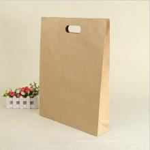 Ручка длины руки подарка промотирования многоразовая хозяйственная сумка коричневой бумаги крафт