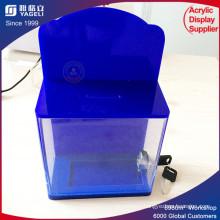 Eco-Friendly Acrylic Donation Box with Lock