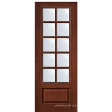 Porta interior bifolding da porta de vidro composta da janela