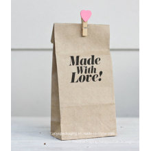 Plain Kraft Gusset Paper Bag