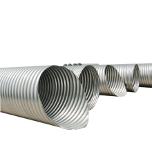 Corrugated galvanized oval shaped steel culvert pipe