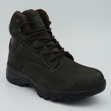 Genuine Leather Men Outdoor Working Shoes with Steel Toe