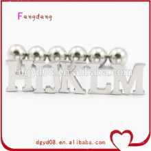 wholesale cheap piercing tongue rings with letter