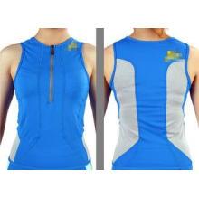 Blue XS Slim Fit Womens Bike Jersey / Cycling Jersey no sle