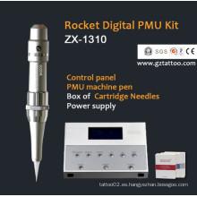Máquina permanente del maquillaje / del tatuaje del panel de control del LCD (ZX1301)