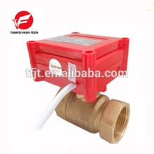 CWX-20P 1.0B DN15 Messing Buchse-Buchse BSP DC12V CR05 5 Draht mit Signal-Feedback 2-Wege-elektrisches Ventil für Wasser