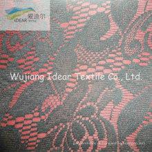 Tela do laço ligada com tecido de poliéster para vestuário