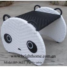 Meubles pour enfants Panda Table Mobilier en osier tissé à la main Bp-363