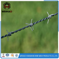 Rural barbed fence wire