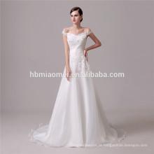 Sexy fora do ombro moda slim-line atado sereia novo modelo 2016 vestido de noiva