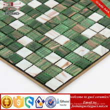 China liefern billige Produkte grün gemischt Hot - schmelzen Mosaik Wandfliesen