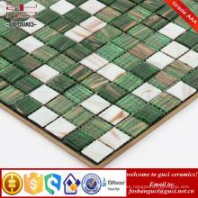 Suministro de China productos baratos mosaicos de mosaico de mezcla en caliente de color verde