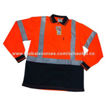 Men's Long Sleeve Hi Vis Safety Shirt for Work Wear with 3m Reflective Band, OEM Brand Available