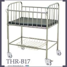 Кровать для младенцев из нержавеющей стали (THR-B17)