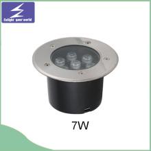 7W Stainlness acero subterráneo LED enterrado luz