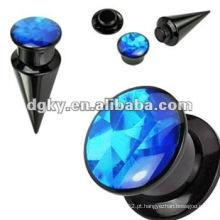 Orelha túnel piercing corpo jóias Acrílico ouvido parafuso