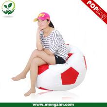 Nuevo diseño de sala de estar beanbag llenando las sillas de bolsa de frijol de fútbol