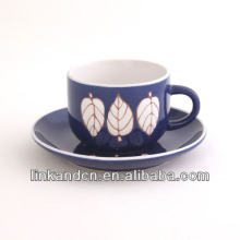 KC-03007purple leaf tea cup with saucer,high quality coffee mug