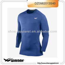 Professional blue color men compression running wear top 2013