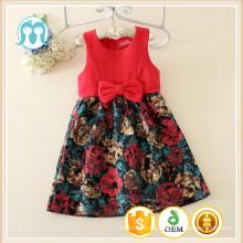 2015 nuevas muchachas de la ropa de los niños del otoño princesa casual vestidos de algodón de los niños se visten