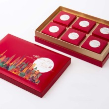 Custom 6 Cups Packing Mooncake Box dengan Tutup