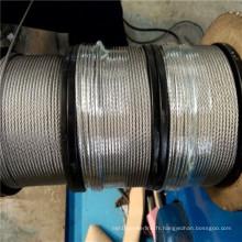 Câble en acier bien enduit 7X19