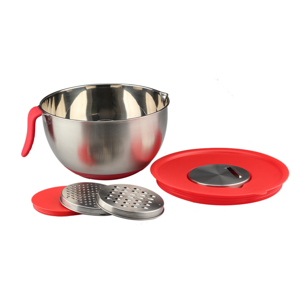 Red Handle Mixing Bowl With Shavings
