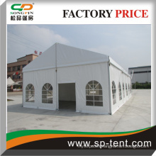small outdoor marquee tent for wedding with PVC windows