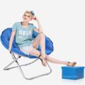 Wholesale Price Fashionable Portable Sofa Sun Lounger Leisure Round Moon Folding Chair