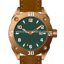 New fashion men automatic bronze watch