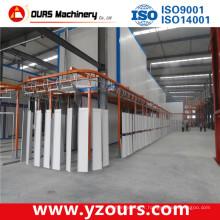 Machine de revêtement de poudre en aluminium automatique complète / ligne / équipement