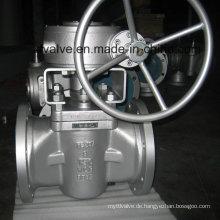ANSI Standard 150lb Guss Stahl Wcb Hülse Typ Stecker Ventil