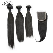 ENVÍO GRATIS Cutícula cruda alineó la extensión del cabello humano de Vietnam con el pelo del bebé del cierre del cordón