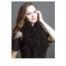 Best Quality for Mongolian Fur Long Scarf Genuine Tibetan Lamb Fur Scarves supply to Oman Manufacturers