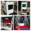 Machine de gravure laser à fibre d'acier inoxydable sur carte d'identité métallique Protection Couverture Design Syngood 100x100mm Raycus 10W 20W 30W
