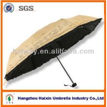 21'' * 8 K billig 3 Falten koreanischen Schirm gedruckte Logo