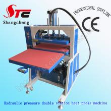 Heißer Verkauf Hydraulische Druck Hitze Presse Maschine T-shirt Wärme Druckmaschine Große Format Hydraulische Druck Wärmeübertragung Maschine Stc-Yy01