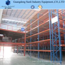 Mezanine de cremalheira de aço industrial do armazenamento do painel com GV / ISO para o armazém