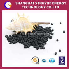 Well-developed pore structure coal based column activated carbon for gas processing