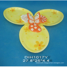 Hand-Painted Ceramic 3 Candy Holders for Easter Decoration