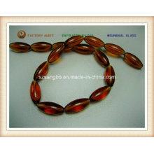 Oval Crystal Glass Bead