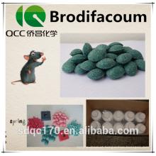 Brodifacoum 98% TC 0,005% Bloco de cera CAS 56073-10-0