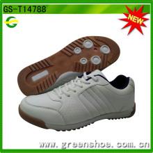 Новый дизайн Дешевые мужские повседневные белые туфли